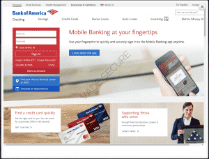 Bank of America phishing page