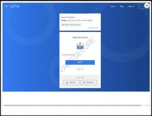 Luno phishing page