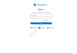 Microsoft Phishing Page: Sharepoint File