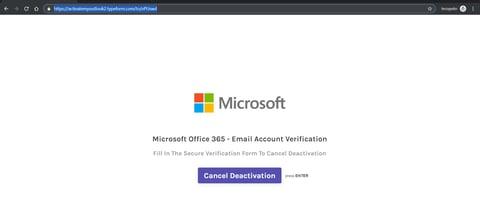 Page de Phishing Microsoft