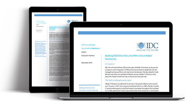 IDC Partner Spotlight Learn how adding Vade Secure for Office 365 bolstered client email security