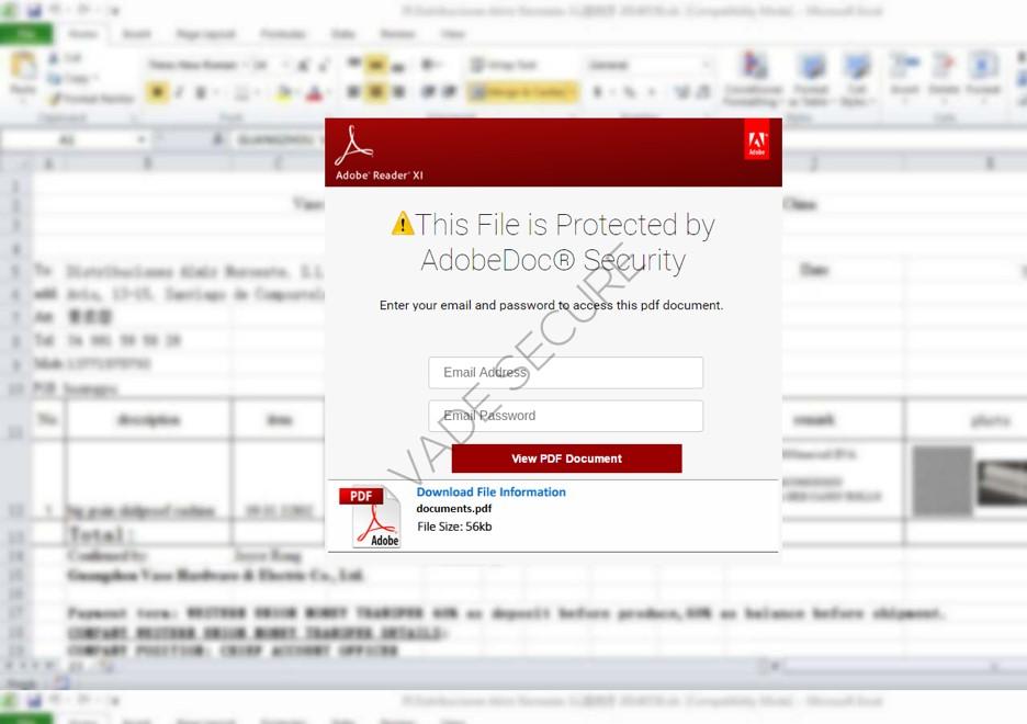 Un utilisateur a ainsi reçu il y a peu un fichier soi-disant protégé par AdobeDoc® Security