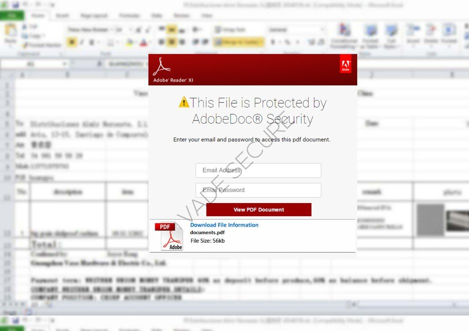 file that is allegedly protected by AdobeDoc® Security