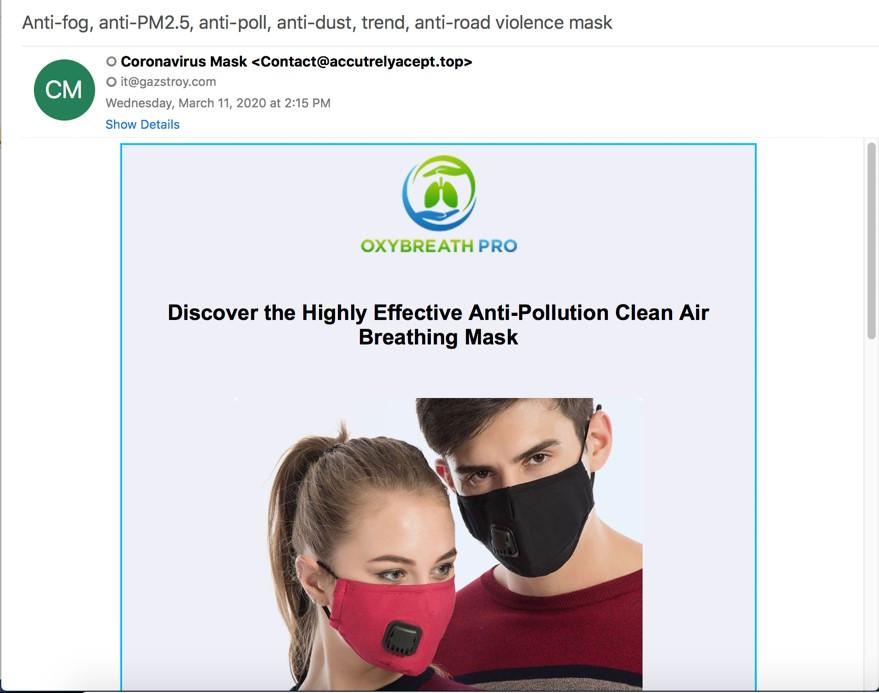 masques contre la pollution