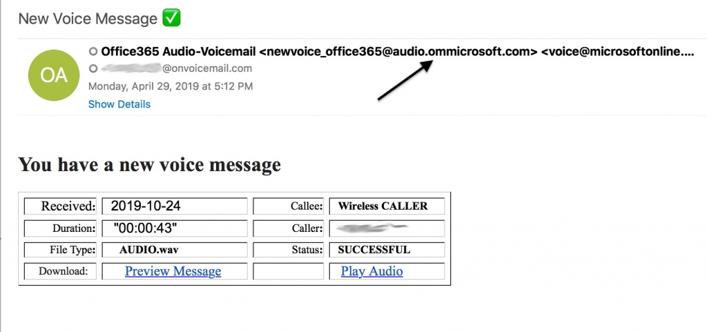 The voice message attack