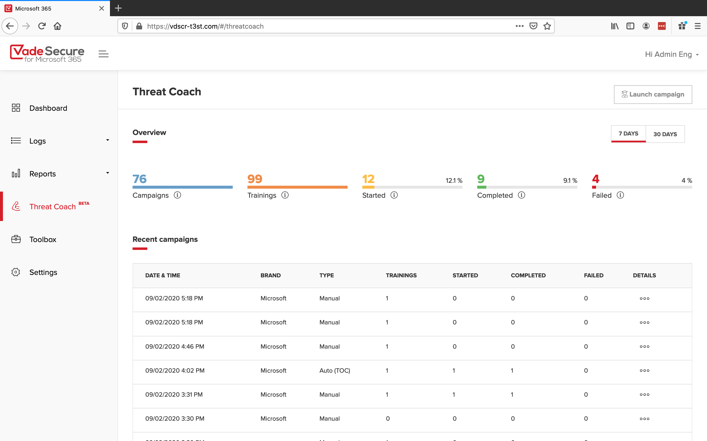 Threat-Coach-Dashboard